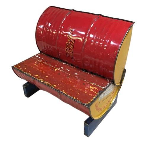 STEEL DRUM SEAT RED (NEW) - Browsers Emporium