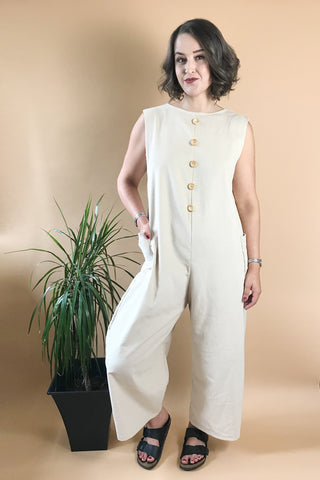 Minimal Relaxed Fit Corduroy Jumpsuit