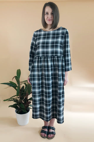 Midi Tartan Smock Dress