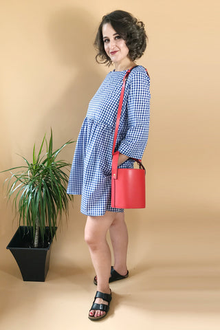 Gingham Smock Dress Mini or Midi