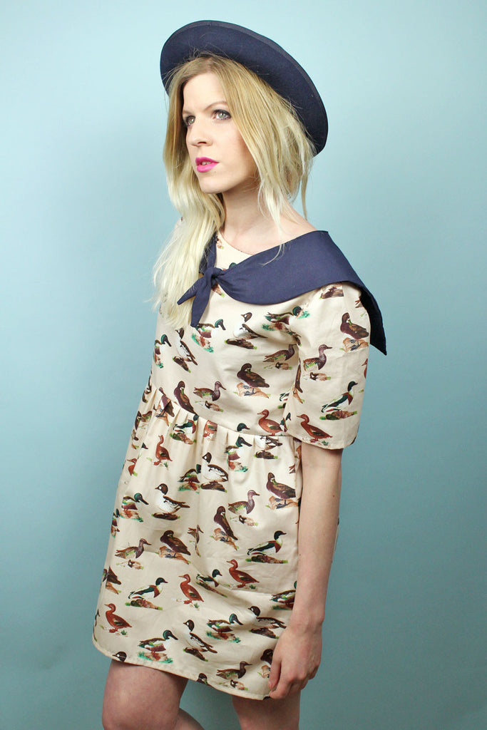 Duck Print Sailor Dress
