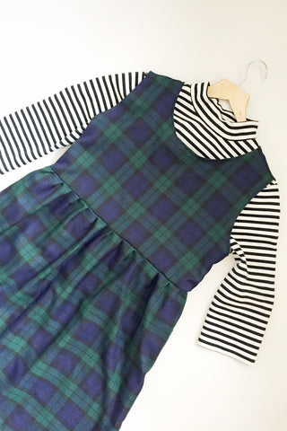 Tartan Pinafore Smock Dress