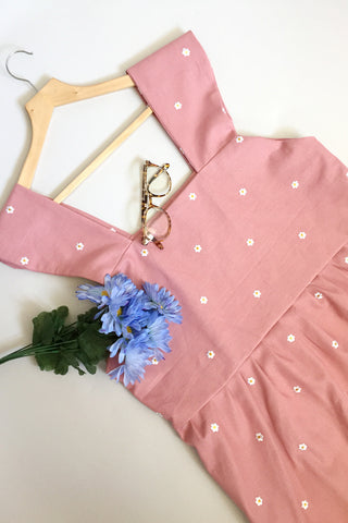 Linen Daisy Sun Dress