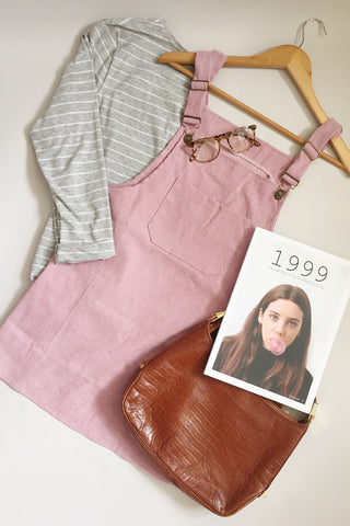 Corduroy Dungaree Dress - Various Colours