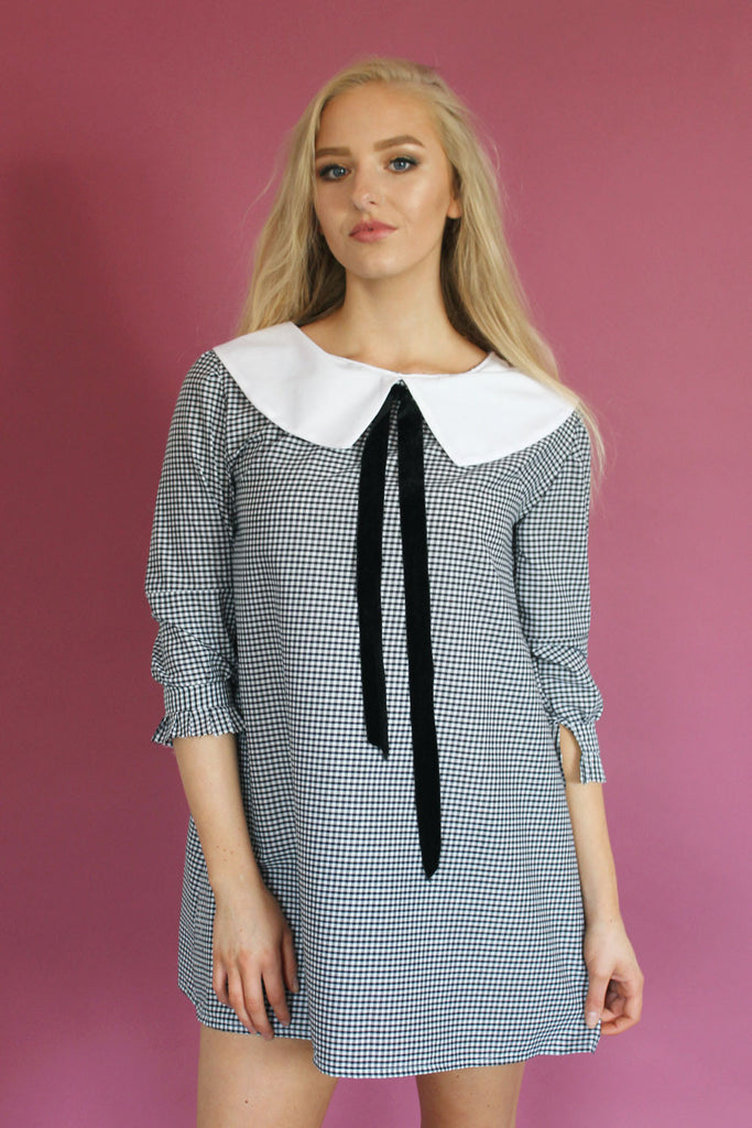 60s Monochrom Swing Dress