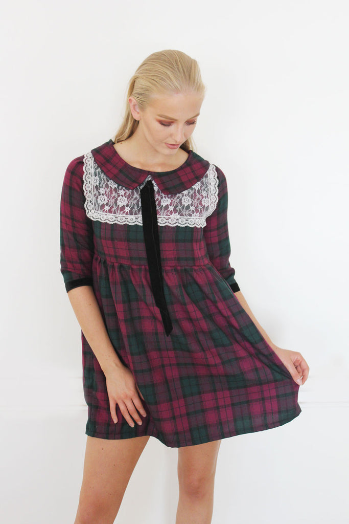 A Girl in Paris Dress (Tartan)