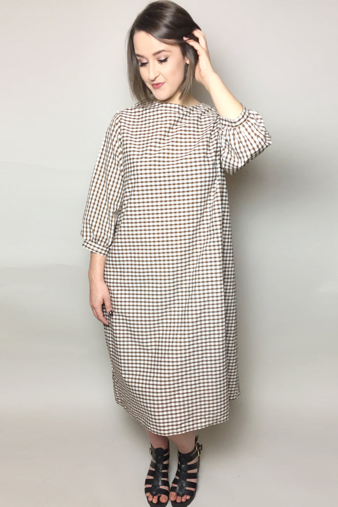 The Gingham Midi Trapeze