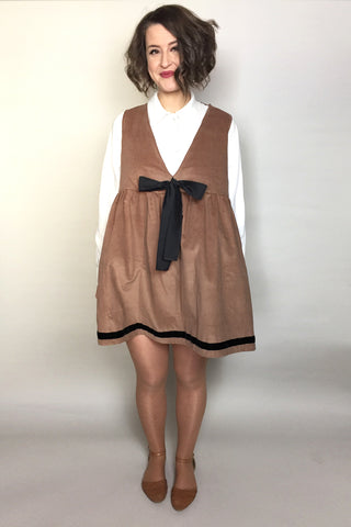 Corduroy Sailor Bow Pinafore