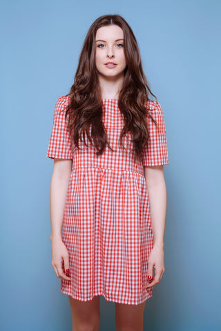 Summer Gingham Smock Red