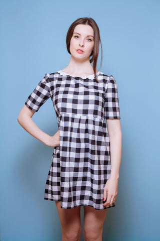 Check Mate Smock Dress
