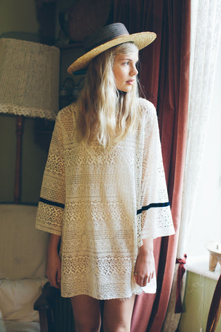 White Lace Swing Dress