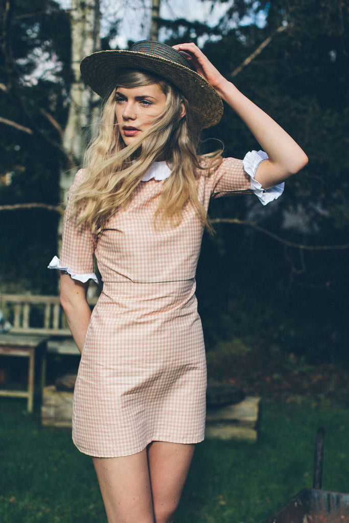 Gingham Frill Dress