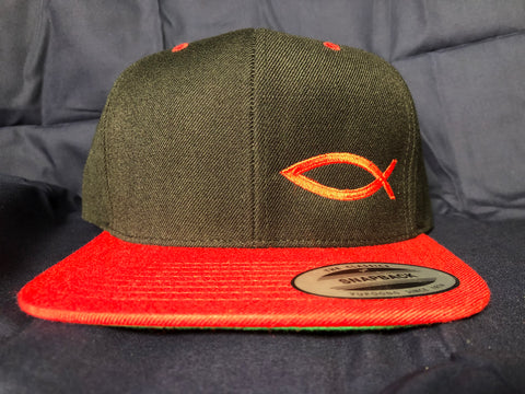 TWO-TONE Snapback ICHTHYS HAT Red