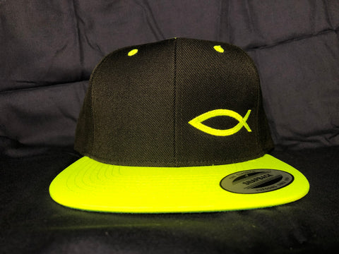 TWO-TONE ICHTHYS HAT Neon Yellow