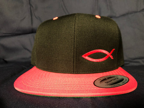 TWO-TONE Snapback ICHTHYS HAT Neon Pink