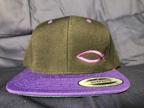 TWO-TONE Snapback ICHTHYS HAT Purple