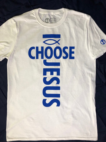 I Choose Jesus Mens Unisex White t-shirt