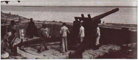 Russian 152mm used by the Germans as coastal artillery
