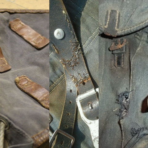 Common damages on original Luftwaffe rucksacks
