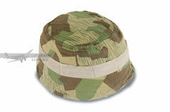 Splinter-B M38 helmet cover using drawstrings for German paratroopers