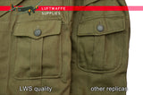 German m40 Tropical uniform scalloped pocket comparison