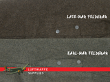 comparison of Feldgrau wool offered by luftwaffe supplies for m38 jump trousers