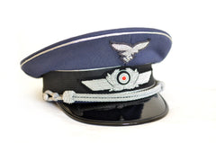 Luftwaffe Officer Visor cap in blue-gray gabardine