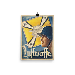Unsere Luftwaffe Poster on thick matte paper