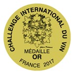 Médaille or Challenge International du Vin - Refuge de Chavannes