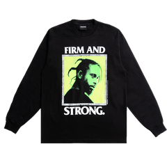 Popcaan Firm and Strong L/S - Black