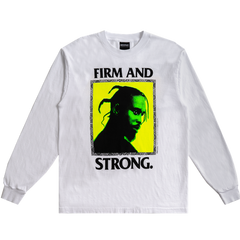 Popcaan Firm and Strong L/S - White