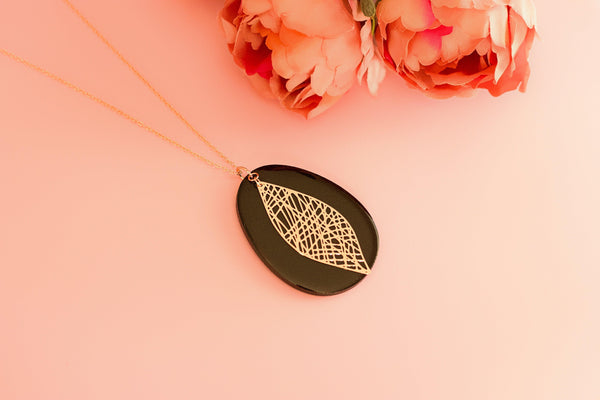 Arca - Hand Painted Wooden Pendant Necklace