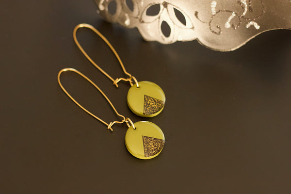 Chantry - Hand Painted Wooden Pendant Earrings
