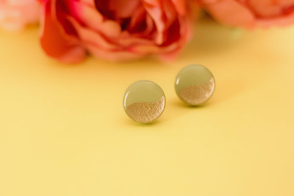 Blithe - Hand Painted Wooden Stud Earrings
