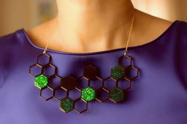 Boho Drops - Paper Bead Earrings (Antique Bronze)