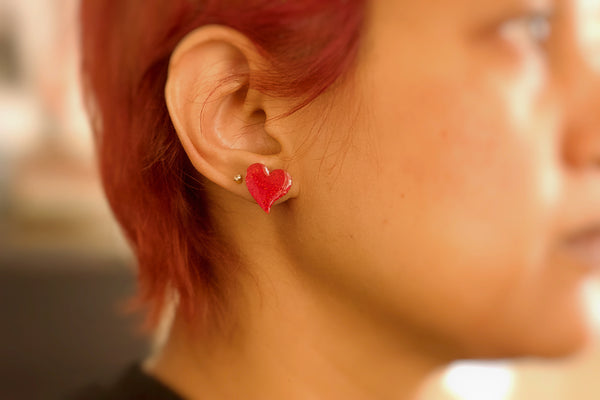Nexus - Hand Painted Wooden Stud Earrings