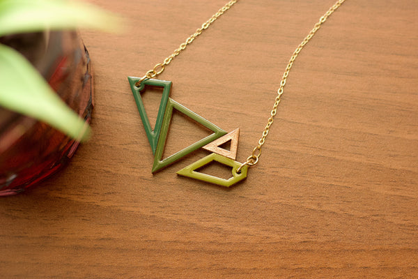 Scion - Hand Painted Wooden Pendant Necklace