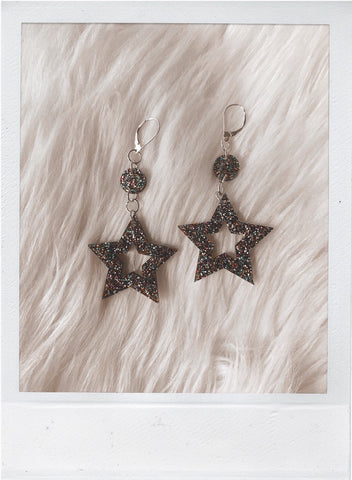 Starception Jump Earrings - Confetti Glitter