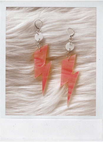 Ziggy Bolt - Psychedelic Pink Earrings