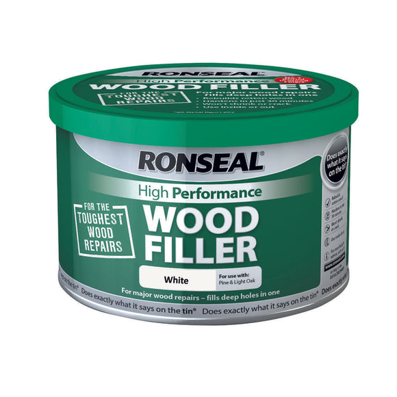 Ronseal High Performance Wood Filler 275g White