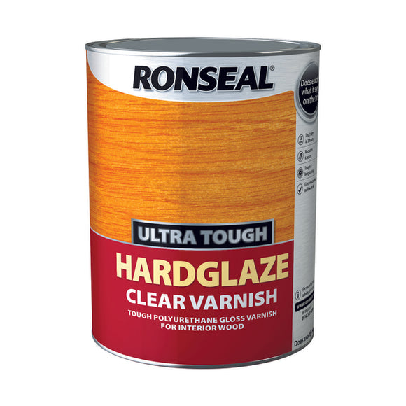 Ronseal Ultra Tough Varnish 5L Hardglaze