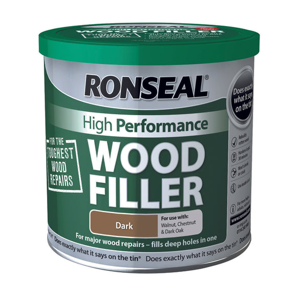 Ronseal High Performance Wood Filler 550g Dark