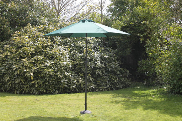 2.7 M Steel Parasol With Crank Green