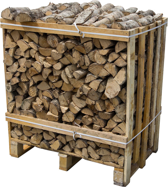 Kiln Dried Hardwood Logs, 350L Crate