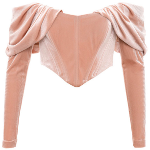 PINK RUCHED CORSET TOP