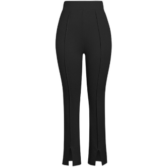BLACK SPLIT LEG PANTS