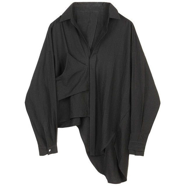 ASYMMETRIC BLOUSE BLACK