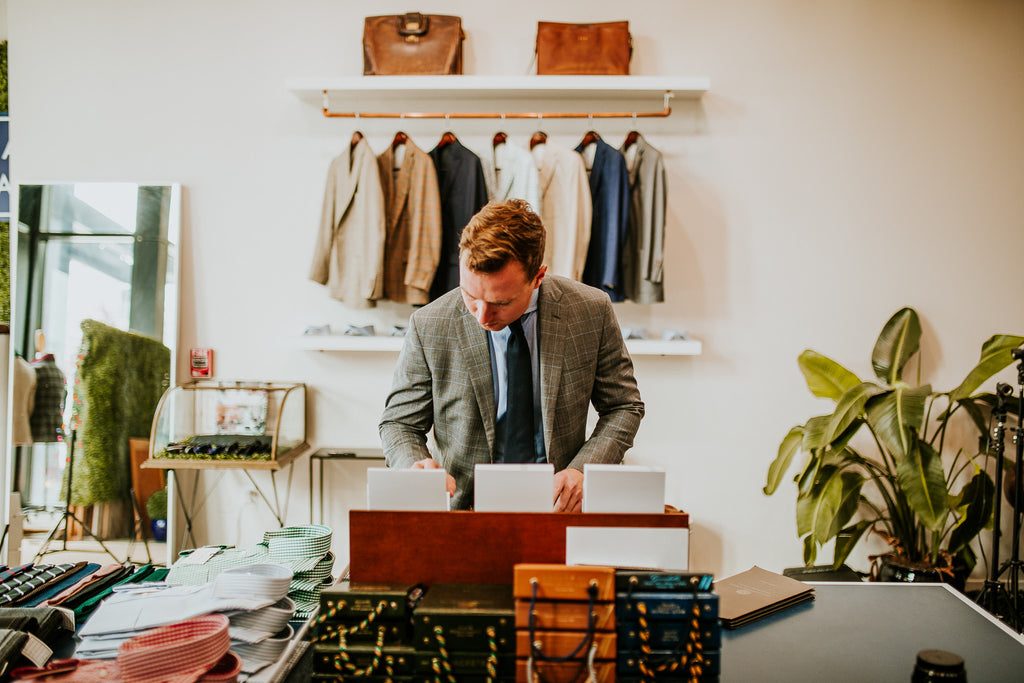 Make an appointment today for your custom suit, sport coat, trouser, or shirt fitting.