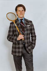 SHAW No. 1: Char-Brown in Wool Plaid