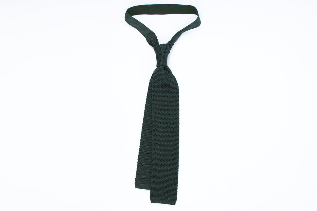 Silk Knit Tie- Brunswick Green